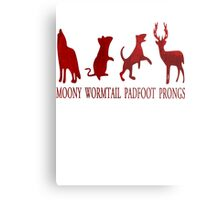 Moony, Wormtail, Padfoot and Prongs Metal Print