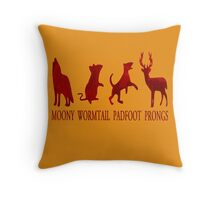 Moony, Wormtail, Padfoot and Prongs Throw Pillow