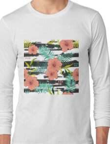Tropical floral  Long Sleeve T-Shirt