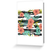 Tropical floral  Greeting Card