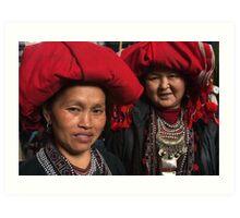 Red Dzao Women - Sapa, Vietnam Art Print