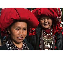 Red Dzao Women - Sapa, Vietnam Photographic Print