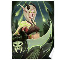 Warcraft - Blood Elf Demon Hunter Poster