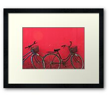 Bicycles - Siem Reap, Cambodia Framed Print