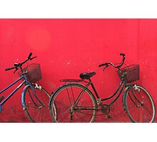 Bicycles - Siem Reap, Cambodia Photographic Print