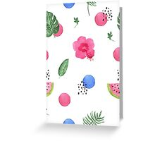 Hibiscus and dots Greeting Card