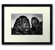Smiling Guardians - The Bayon, Cambodia Framed Print