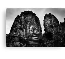 Smiling Guardians - The Bayon, Cambodia Canvas Print