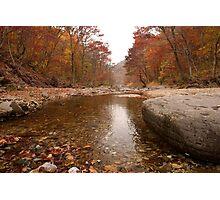 Autumn Stream - Juwangsan National Park, South Korea Photographic Print