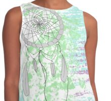 Unique Hippie Dream Catcher Contrast Tank