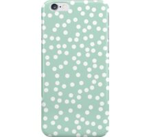 Cute Mint and White Polka Dots iPhone Case/Skin