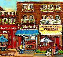PATISSERIE CHO COLA CUPCAKES MONKLAND VILLAGE MONTREAL CITY SCENES by Carole  Spandau
