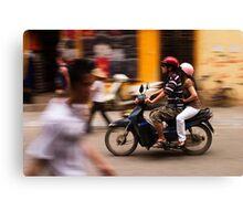 Motorbike Hanoi - Hanoi, Vietnam Canvas Print