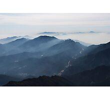 Morning Mist - Deogyusan National Park, South Korea Photographic Print