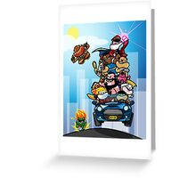 Last Day of Summer Street Fighter Poster Greeting Card