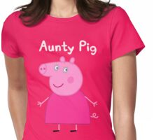 Aunty Pig Womens Fitted T-Shirt
