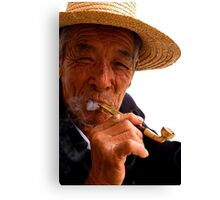 Smoking Man - Beijing, China Canvas Print
