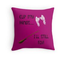 No wings? No problem! Throw Pillow