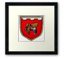 Dagger and Gryphon Coat of Arms Framed Print