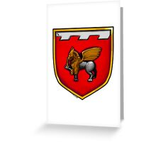 Dagger and Gryphon Coat of Arms Greeting Card