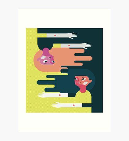 Friend Story 2 Art Print