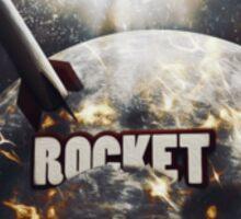 Moon Rocket Launch Sticker