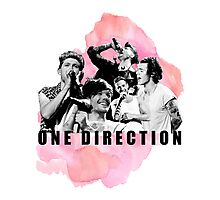 One Direction Watercolor! Photographic Print