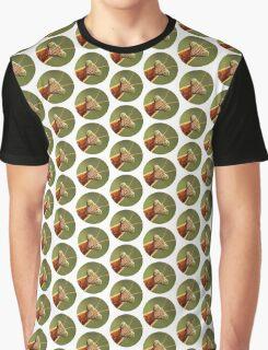 Mantis Against Mottled Green Graphic T-Shirt