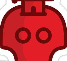Red Skull & Dagger Sticker