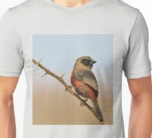 Blackcheeked Waxbill - Finding Thorny Solitude Unisex T-Shirt