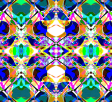 Abstract Symmetry of Colors Sticker