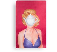 Magritte inspired Marilyn Canvas Print