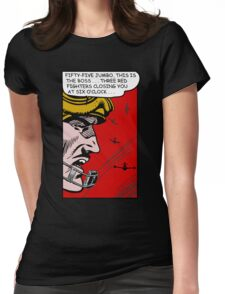 Three Red Fighters Womens Fitted T-Shirt