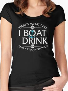 I Boat Drink Women's Fitted Scoop T-Shirt