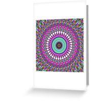 Colorful Mandala of Symmetry Greeting Card