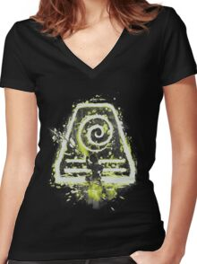 earth tribe Women's Fitted V-Neck T-Shirt