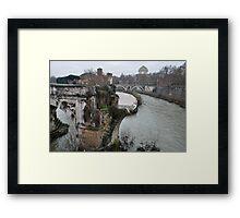 Pons Aemilius, the Oldest Bridge Framed Print