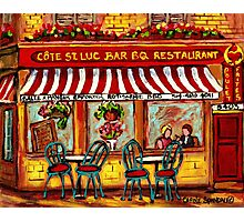 SIDEWALK CAFE MONTREAL ROTISSERIE COTE ST. LUC BBQ Photographic Print