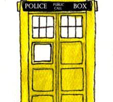 Watercoloured-Multi-Coloured TARDISes. Sticker