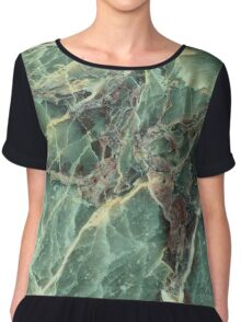 Green marble phone cover Chiffon Top
