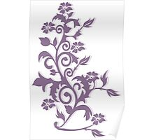 Flower Swirl Design Poster