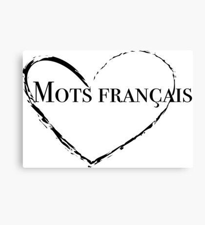 Mots Français Parody French Words Canvas Print