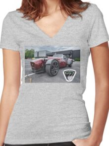 Lotus 7 Re-Do Women's Fitted V-Neck T-Shirt