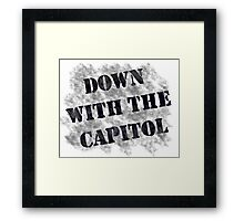 Down With the Capitol. Framed Print