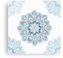 It is Icy Cold Outside, #redbubble, #mandala, #abstract Canvas Print