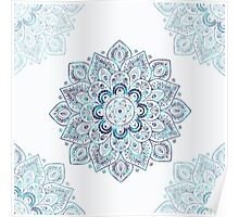 It is Icy Cold Outside, #redbubble, #mandala, #abstract Poster