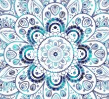 It is Icy Cold Outside, #redbubble, #mandala, #abstract Sticker