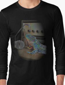 Bearded dragon rock music Long Sleeve T-Shirt