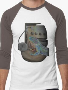 Bearded dragon rock music Men's Baseball ¾ T-Shirt