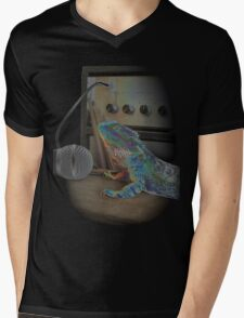 Bearded dragon rock music Mens V-Neck T-Shirt